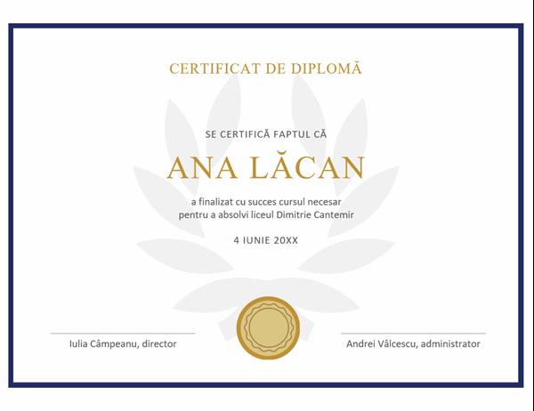 Certificat de diplomă