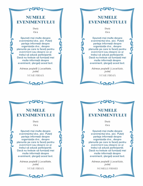 Invitații la evenimente (4 pe pagină)