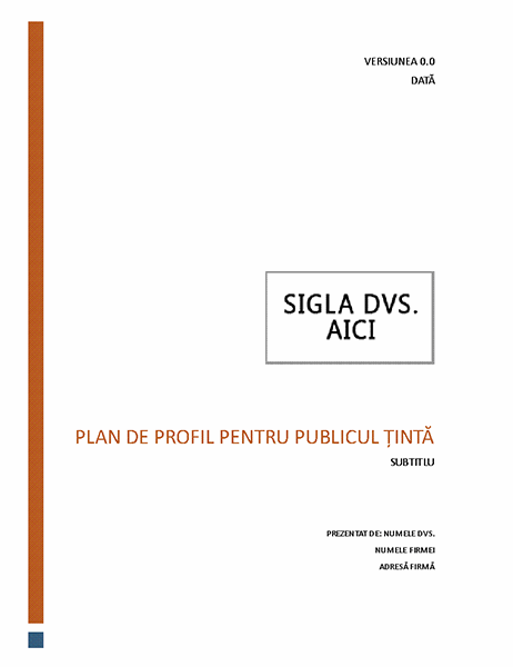 Plan de profil pentru publicul țintă