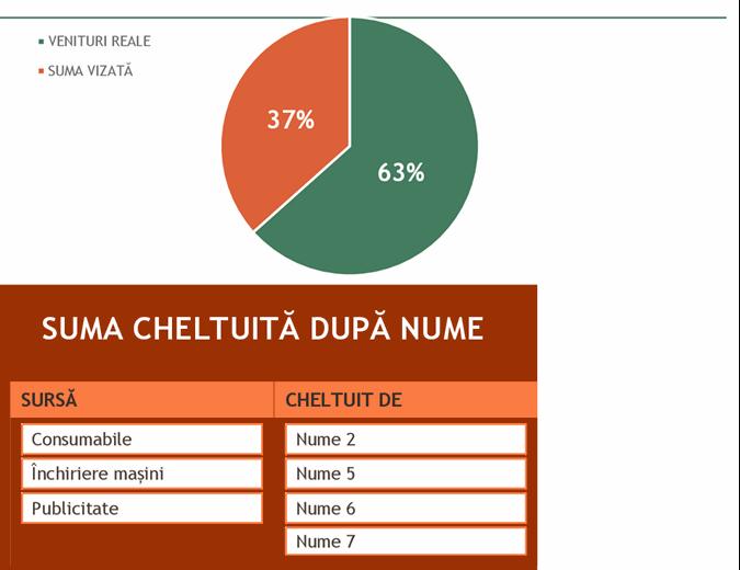 Buget pentru evenimente de strângere de fonduri