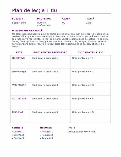 Planificator zilnic de lecții (color)