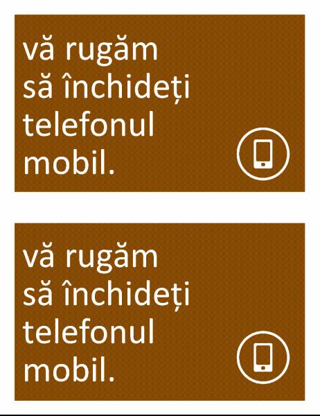 Indicator pentru interzicerea telefonului mobil (2 pe pagină)