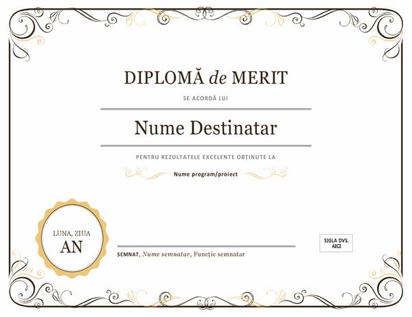 Diplomă de merit