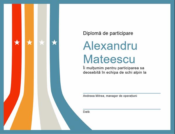 Certificat de participare