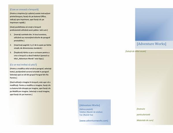 Broșură (8 1/2 x 11, tip vedere, 2 fețe)