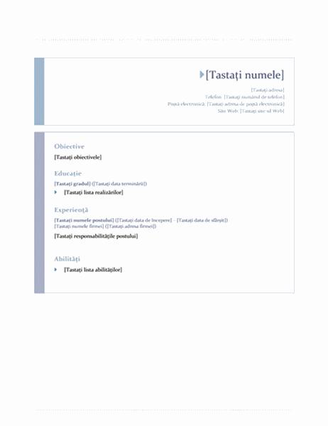 CV (design Origine)