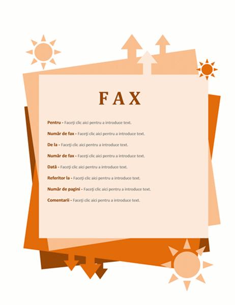 Foaie de însoțire fax