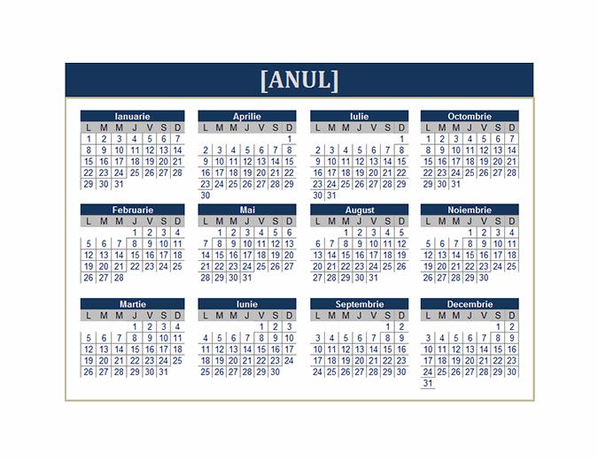 Calendar (orice an)