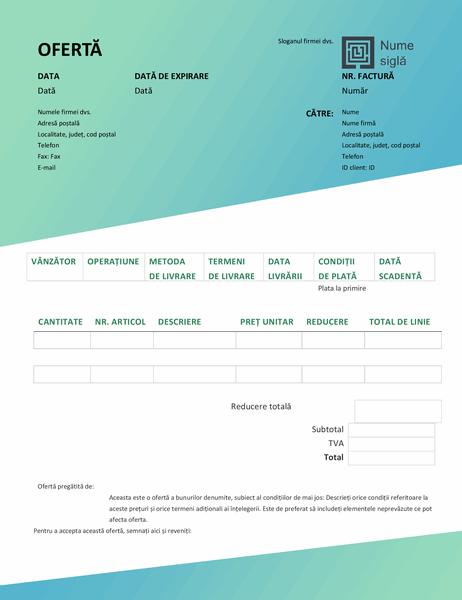Ofertă de vânzări (proiectarea Gradient verde)