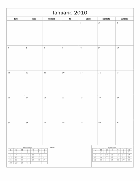 Calendar 2010 (Model simplu)