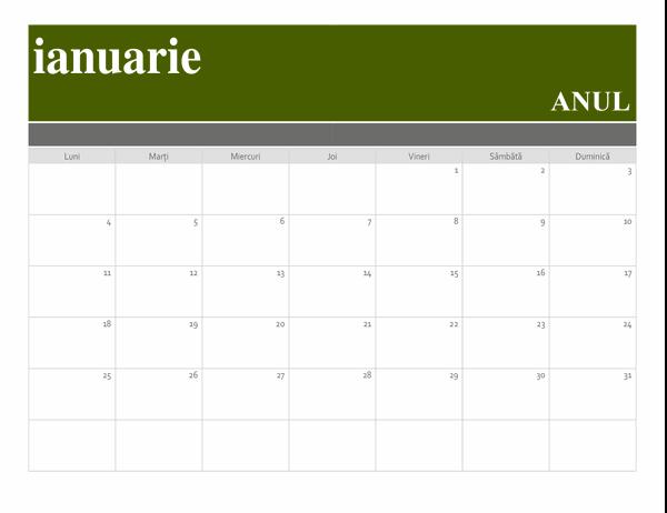 Calendar banner
