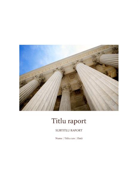 Raport școlar cu copertă