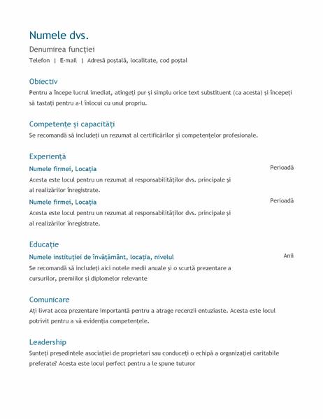 CV (cronologic)