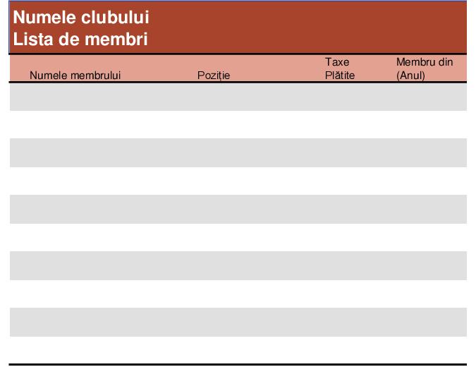 Lista membrilor