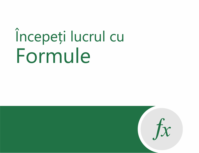 Tutorial pentru formule