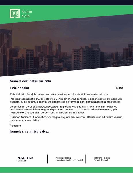 Scrisoare de afaceri (modelul Pădure verde)