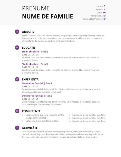 CV student (proiect modern)