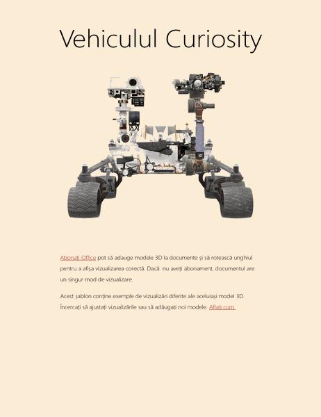 Referat la științe în Word 3D (Modelul Mars Rover)