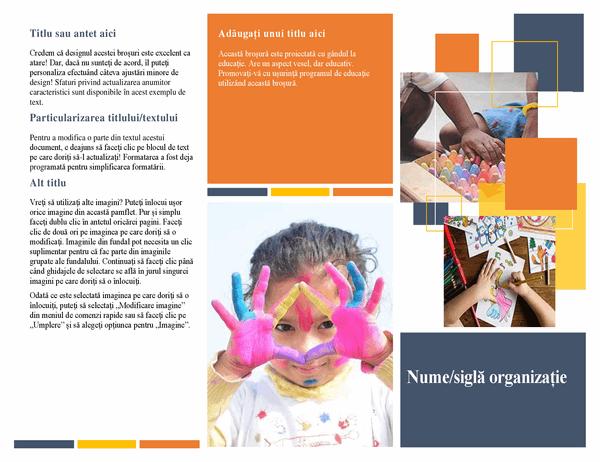 Broșură despre educație