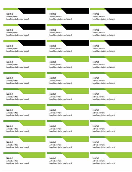 Etichete de adresă siglă îndrăzneață (30 pe pagină)