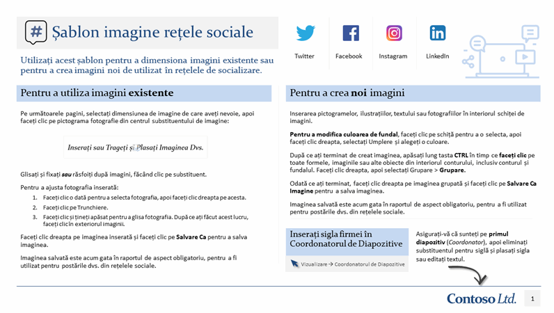 Șablon imagine rețele sociale