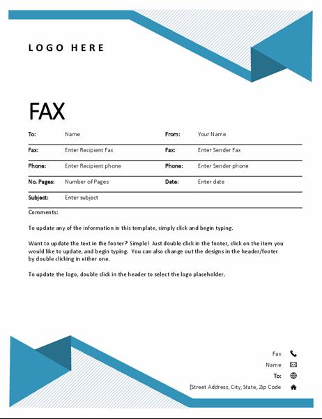 Pagină de însoțire fax Linii decorative