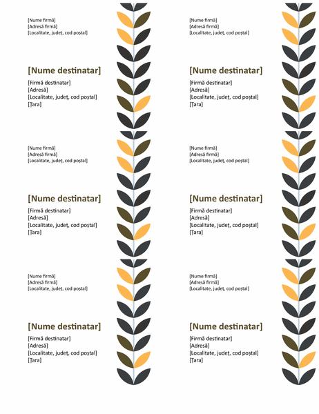 Etichete crengi (6 pe pagină)