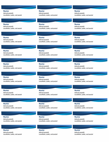 Etichete curbe albastre (30 pe pagină)