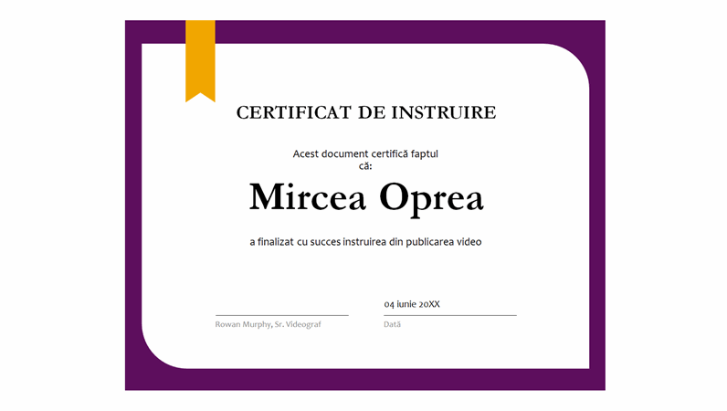 Certificat de instruire
