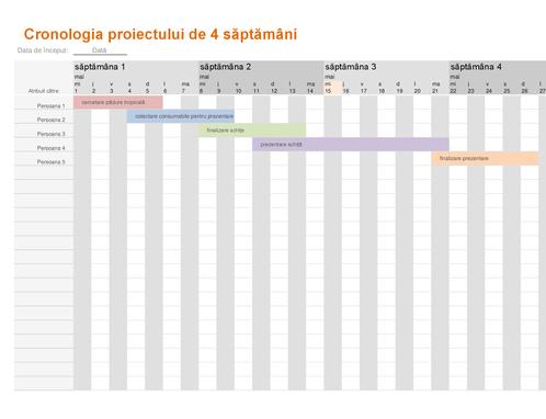 Cronologie de proiect