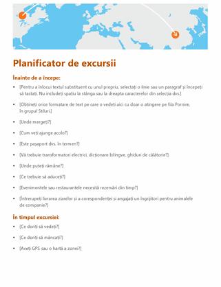 Planificator de excursii
