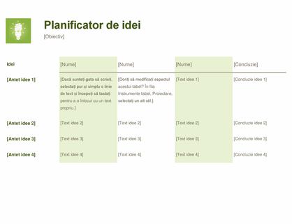 Planificator de idei