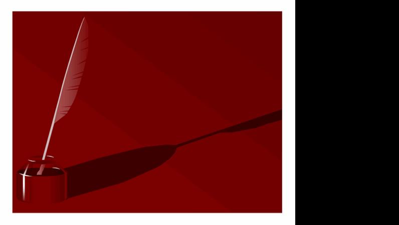 Шаблон оформления «Чернильница»