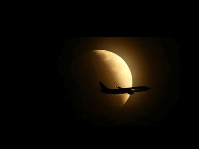 """Шаблон оформления """"Затмение и самолет"""""""