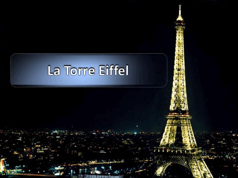 Шаблон оформления с Эйфелевой башней