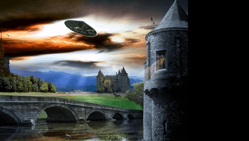 Шаблон оформления с НЛО