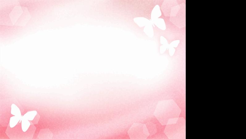 Шаблон оформления с бабочками