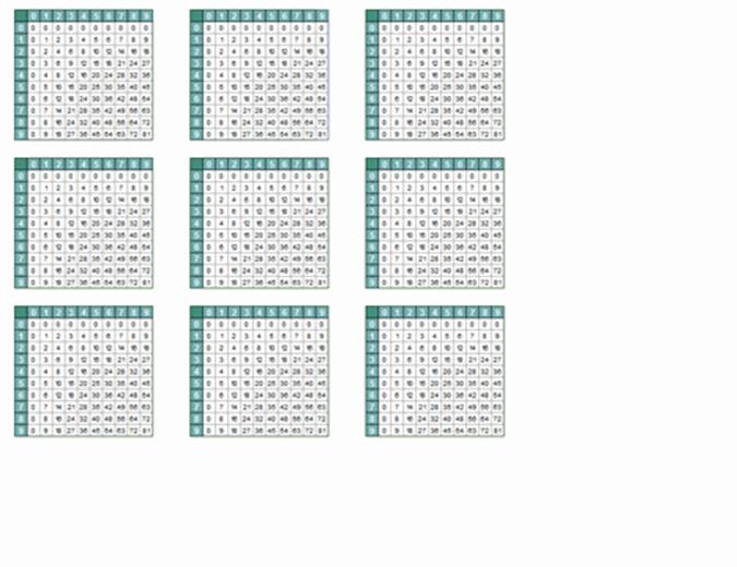 Таблицы умножения (9 стр.)