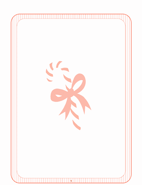 Праздничный бланк (подложка с леденцом)