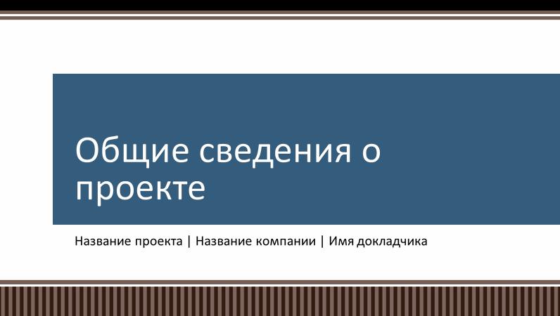 Презентация с обзором планирования бизнес-проекта