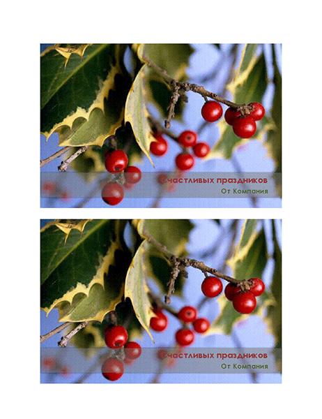 Праздничные деловые открытки (2 на страницу)