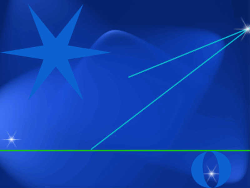 Шаблон оформления со звездами