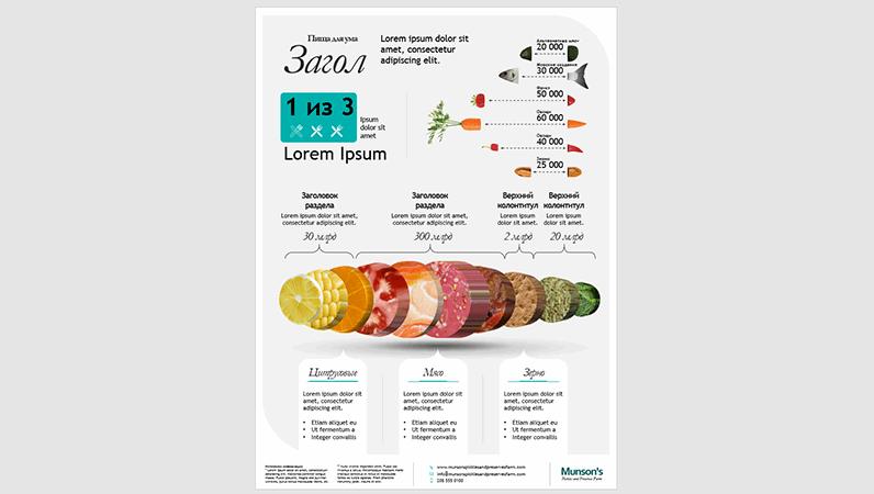 Плакат с инфографикой о еде