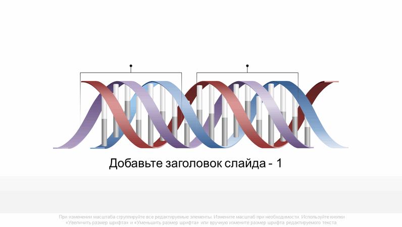 """Рисунок """"Горизонтальная молекула ДНК"""""""