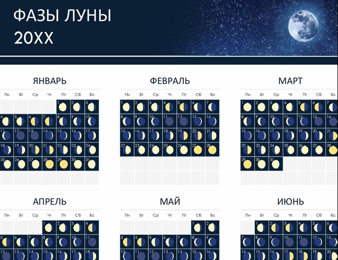 Фазы лунного календаря