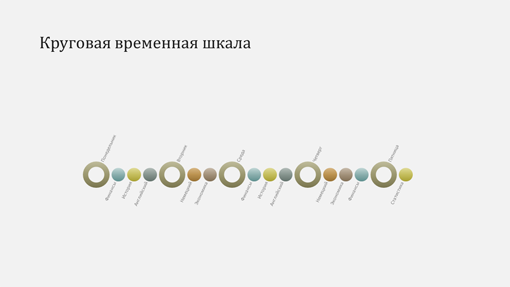 Слайд с временной шкалой событий (широкоэкранный формат)