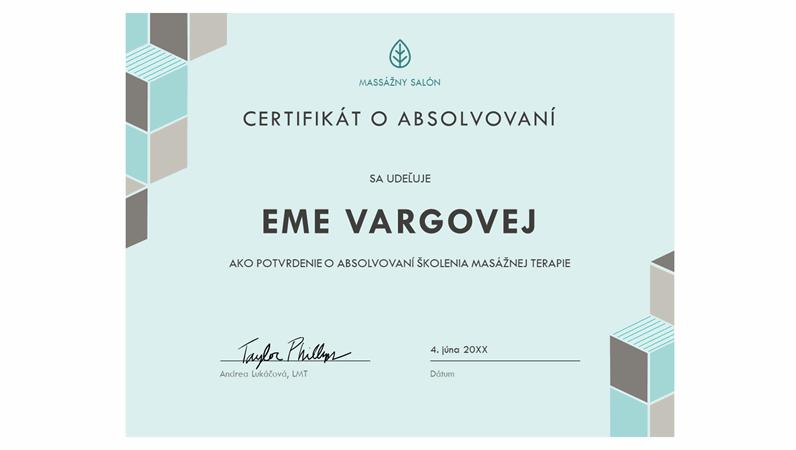 Certifikát oabsolvovaní