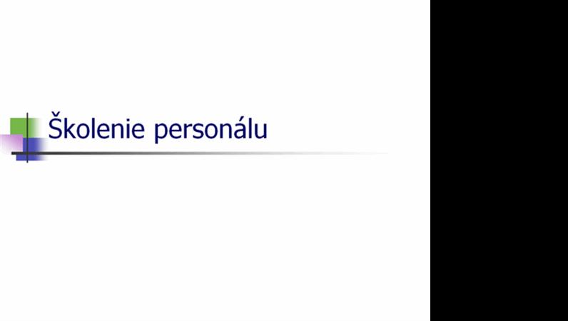 Prezentácia školenia personálu