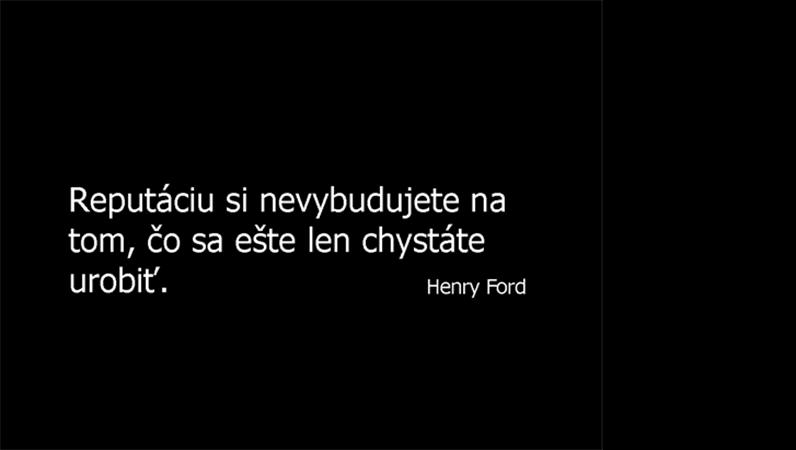 Snímka s výrokom Henryho Forda