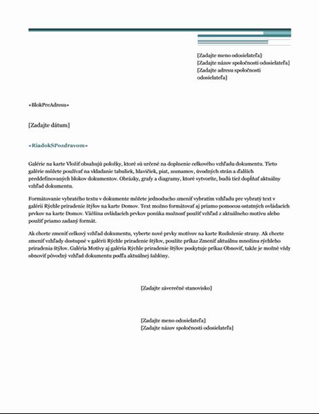 List hromadnej korešpondencie (industriálny motív)